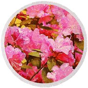 Lilac Candy Round Beach Towel