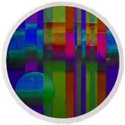Lilac Doors Round Beach Towel