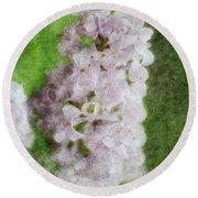 Lilac Dreams - Digital Watercolor Round Beach Towel