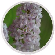 Lilac Dreams With Corner Decorations Round Beach Towel
