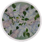 Lilac Flowers Expressing Harmony Round Beach Towel