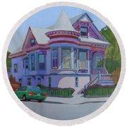Lilac House, Alameda Round Beach Towel