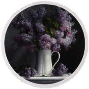 Lilacs/haviland Water Pitcher Round Beach Towel
