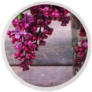 Lilacs In A Vase Round Beach Towel