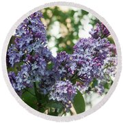 Lilacs In Spring Round Beach Towel