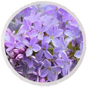 Lilacs-lavender Lovely  Round Beach Towel