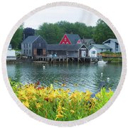 Lilies By The Bay, Cape Porpoise Me Round Beach Towel