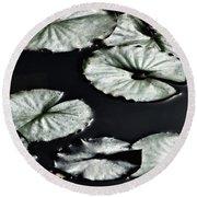 Lilies Of The Deep Round Beach Towel