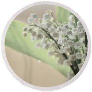 Lilies Of The Valley 2 Round Beach Towel