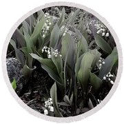 Lilies Of The Valley Mindscape No 2 Round Beach Towel
