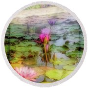 Lillie's Of Capistrano Round Beach Towel by Michael Hope