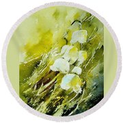 Lilly Of The Valley Round Beach Towel