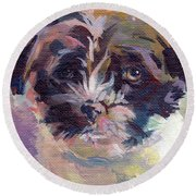 Lilly Pup Round Beach Towel