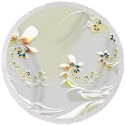 Lily Chains Round Beach Towel
