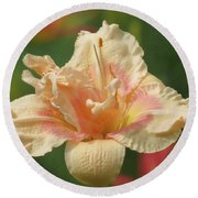Lily Flower - Daylily Round Beach Towel