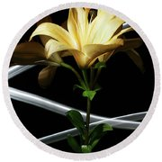 Lily Of The Field Round Beach Towel