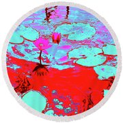 Lily Pads And Koi 7 Round Beach Towel