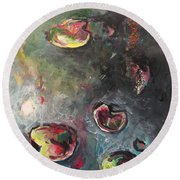 Lily Pads5 Round Beach Towel