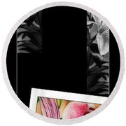 Lily Wall Decor Round Beach Towel