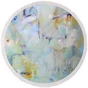 Lilypad Pond Round Beach Towel