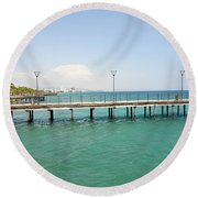 Limassol Marina  Round Beach Towel
