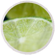 Lime Cut Round Beach Towel