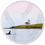 Lime Kiln I Round Beach Towel