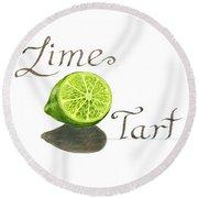 Lime Tart Round Beach Towel
