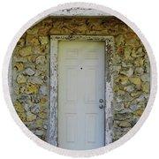 Limestone House Door Round Beach Towel