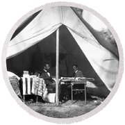 Lincoln & Mcclellan Round Beach Towel
