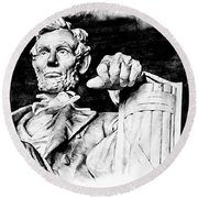 Lincoln Carved Round Beach Towel