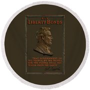 Lincoln Gettysburg Address Quote Round Beach Towel