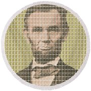 Lincoln - Gold Round Beach Towel