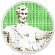 Lincoln Memorial - Green Round Beach Towel
