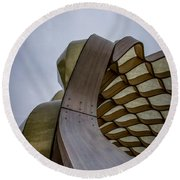 Abstract Of Peoples Gas Pavillon Round Beach Towel