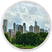 Lincoln Park Pano  Round Beach Towel