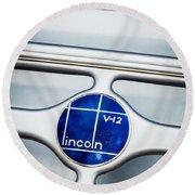 Lincoln V12 Emblem Round Beach Towel