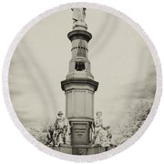 Lincolns Gettysburg Address Site - Toned Round Beach Towel