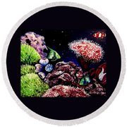 Lindsay's Aquarium Round Beach Towel