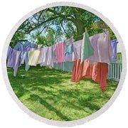 Line Dry - Laundry Round Beach Towel
