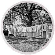 Line Drying - Laundry Round Beach Towel