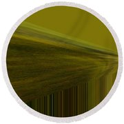 Lined Abstract  Round Beach Towel