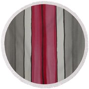 Lines Round Beach Towel