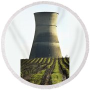 Lines To Power Tower Round Beach Towel