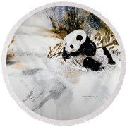 Ling Ling Round Beach Towel