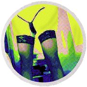 Lingerie Tease Pop Art Round Beach Towel