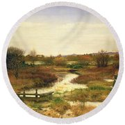 Lingering Autumn Round Beach Towel