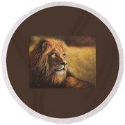 Lion Heart Round Beach Towel