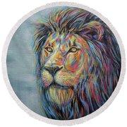 Lion No.3 Round Beach Towel
