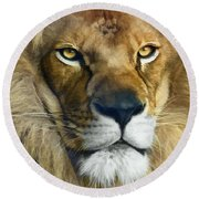 Lion Of Judah II Round Beach Towel